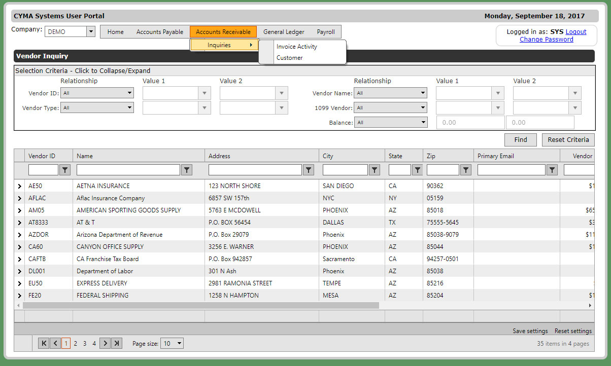 CYMA 17 Preview: ESS and Web Based Functionality